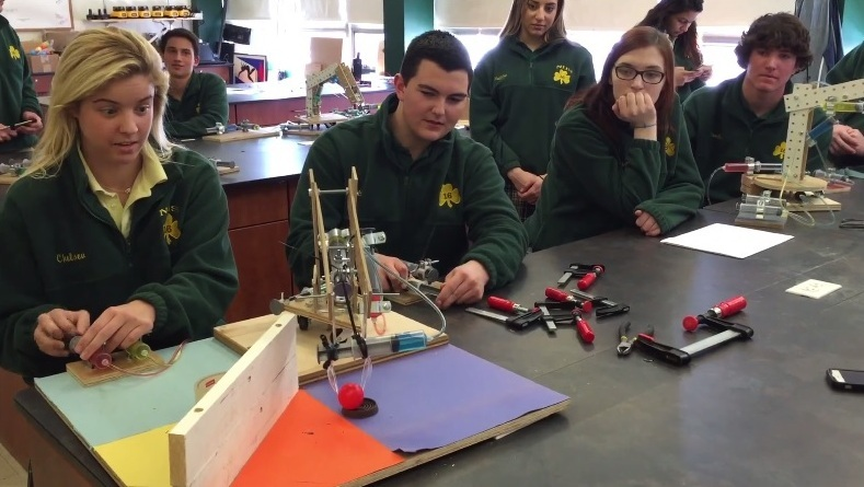Engineering Students Design Hydraulic Arms