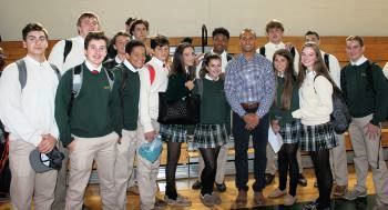"Donald Brown Returns to RBC to Share ""Natural High"" Message with Students"